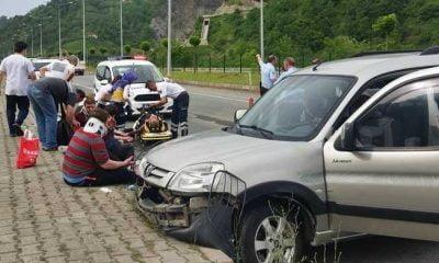 Of-Çaykara yolunda kaza