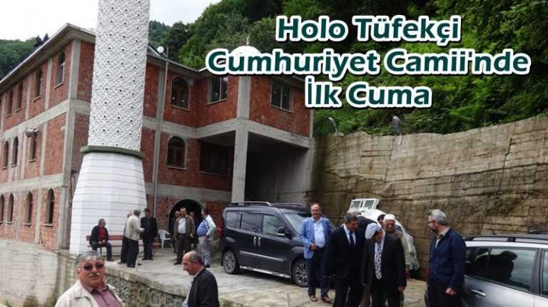 Tüfekçi Cumhuriyet Camii'nde ilk Cuma