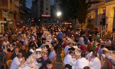 Çaykara Büşükşehir Belediyesi iftarında buluşuyor