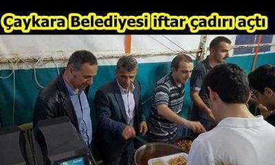 Çaykara Belediyesi iftar çadırı açtı