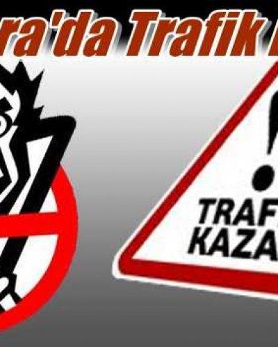 Çayıroba'da trafik kazası 1'i ağır 3 yaralı