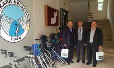 Çaykaralı gurbetçiler engelli araçları bağışladı