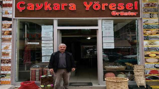 Çaykara'da yöresel gıda ürünleri dükkanı açıldı