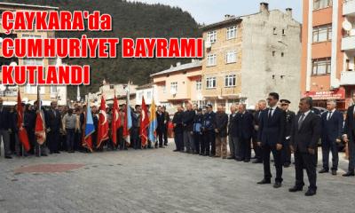 Çaykara'da Cumhuriyet Bayramı coşkuyla kutlandı