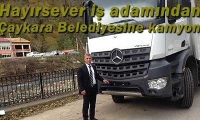 Çaykaralı iş adamından Belediyeye damperli kamyon