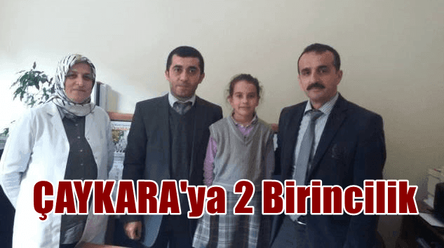 Trabzon genelinde düzenlenen kitap okuma yarışmasında Çaykara 2 birincilik aldı