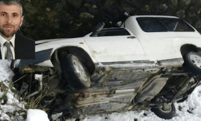 SP Çaykara İlçe Başkanı Mehmet Nuri Kadıoğlu kaza yaptı