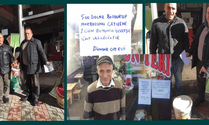 Çaykara esnafından Türk Lirasına destek döviz bozdurana boya çay ve bilet hediye