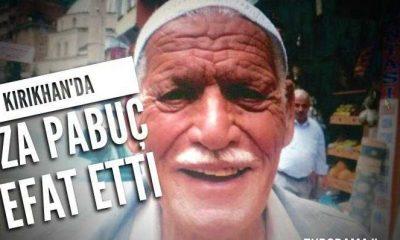 Kırıkhan'da Rıza Pabuç vefat etti