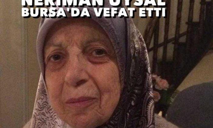 Akdoğan'dan Neriman Uysal vefat etti