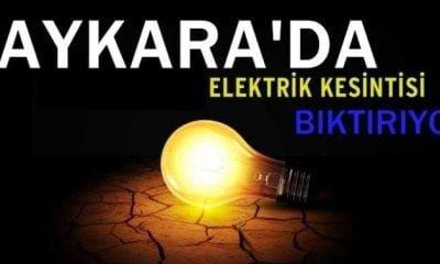 Çaykara'da elektrik sorunu bitmiyor