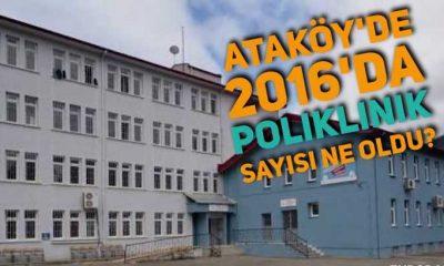 2016'da Ataköy'de kaç hasta poliklinik hizmeti aldı?