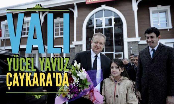 Vali Yücel Yavuz Çaykara'ya geldi