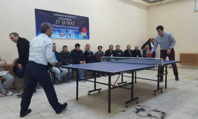Çaykara'da masa tenisi turnuvası başlıyor