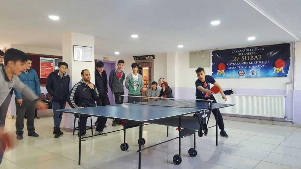 Masa tenisi turnuvası tamamlandı 2