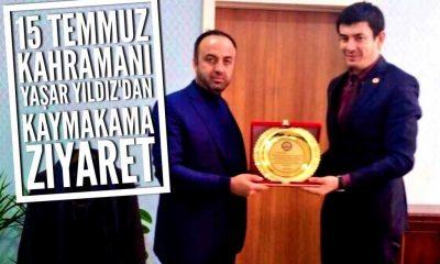 15 Temmuz kahramanı Yaşar Yaldız'dan Kaymakam Ayrancı'ya ziyaret