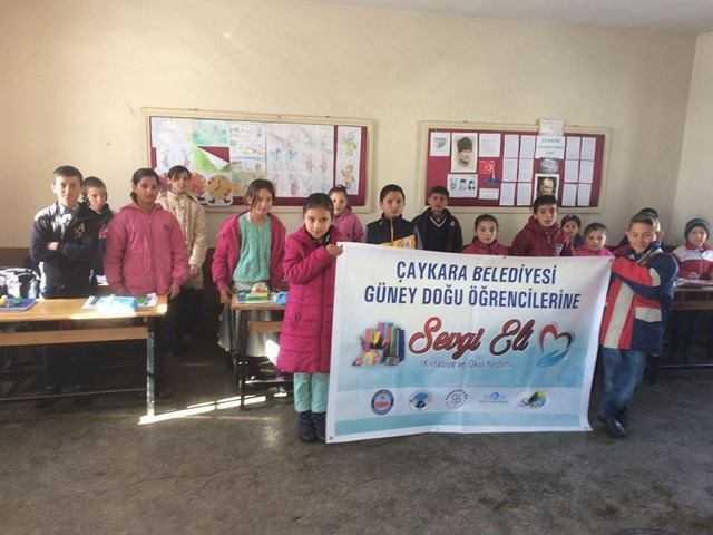 Çaykara Belediyesi Doğu ve Güneydoğu'daki öğrencileri unutmadı 1