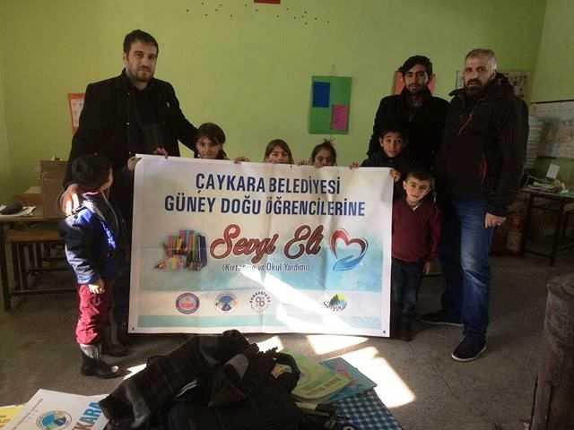 Çaykara Belediyesi Doğu ve Güneydoğu'daki öğrencileri unutmadı 6