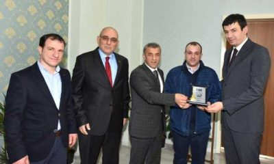 """""""Ayın Şoförü"""" ödülünü Çaykara'da aldı"""
