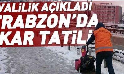Trabzon genelinde kar tatili uzadı