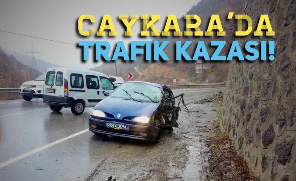 Çaykara'da trafik kazası