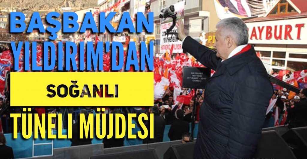 Başbakan Çaykara-Bayburt tünelinin müjdesini verdi