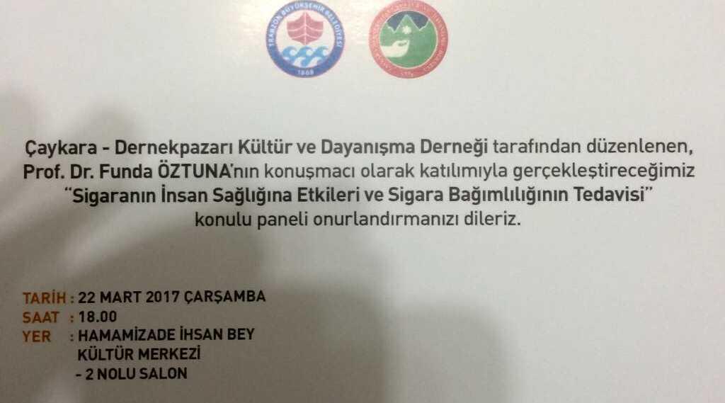 Çaykaralılar Derneğinden Trabzon'da panel 1