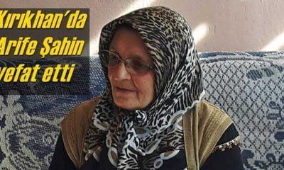 Kırıkhan'da Arife Şahin vefat etti