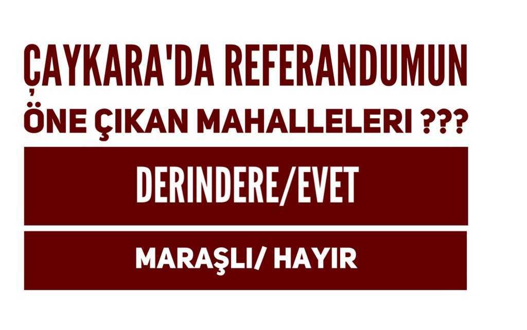 Çaykara'da Referandumun dikkat çeken iki mahallesi