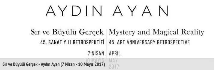 Ressam Aydın Ayan 45. yıl sergisini açtı 1