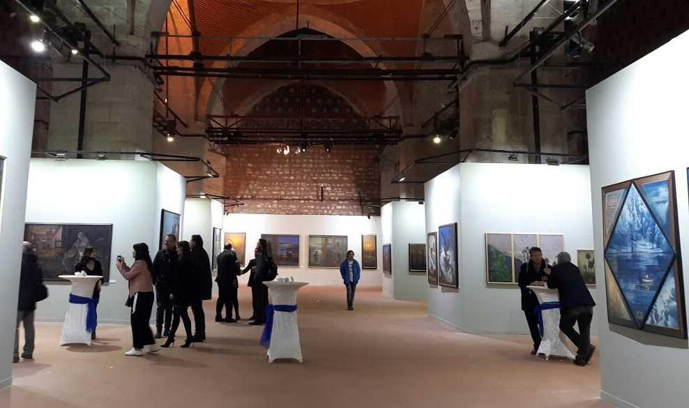 Ressam Aydın Ayan 45. yıl sergisini açtı 5