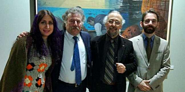Ressam Aydın Ayan 45. yıl sergisini açtı 2