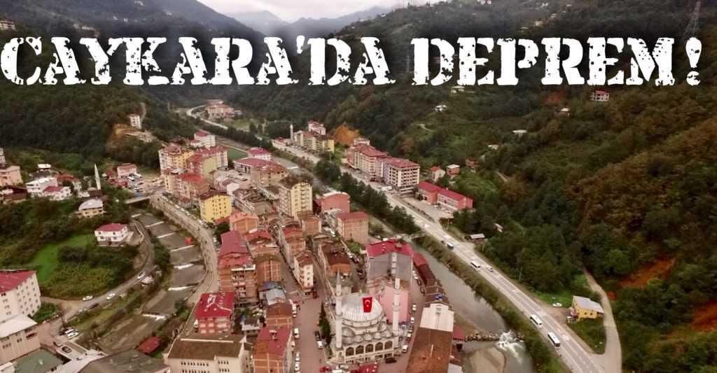 Deprem Çaykara'da hissedildi