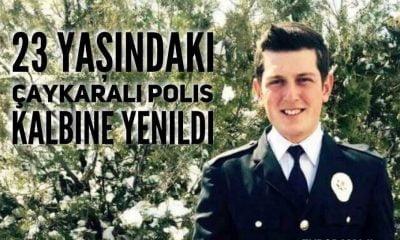 Çaykara'ya genç polisin acısı düştü