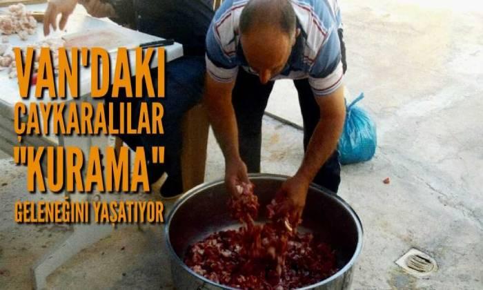 Van'daki Çaykaralılar Çaykara'nın bile unuttuğu bir geleneği yaşatıyor