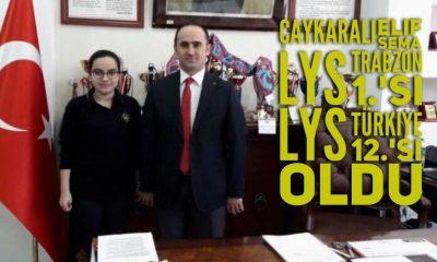 Çaykaralı Elif Sema'dan müthiş LYS başarısı