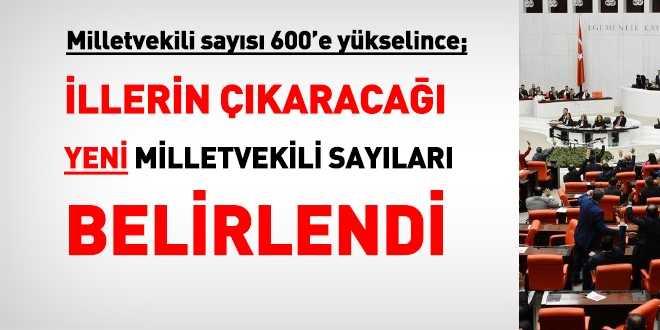 600 vekillik mecliste Trabzon'un milletvekili sayısı kaç oldu?