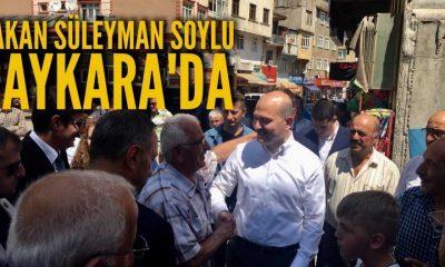 İçişleri Bakanı Soylu Çaykara'da
