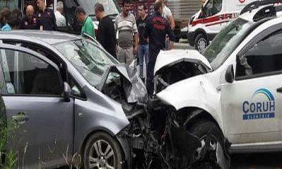 Dernekpazarı'ndaki kazada üç yaralı!