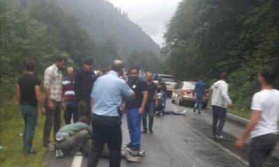Çaykara-Of yolundaki kazada yaralılar var