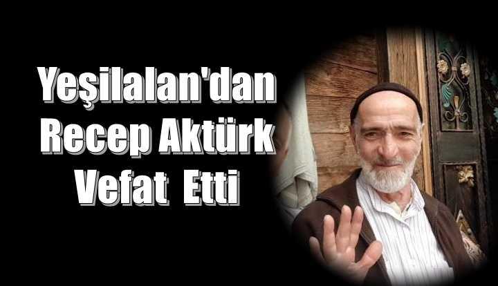 Yeşilalan Mahallesinden Recep Aktürk vefat etti