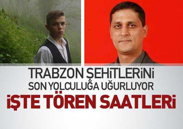 Trabzon şehitlerini son yolculuğuna uğurluyor