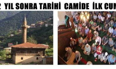Tarihi Camide 12 Yıl Sonra Bir Cuma
