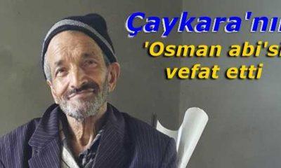 Maraşlı'da Osman Özyar vefat etti