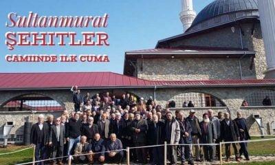 Sultanmurat Şehitler Camiinde ilk Cuma namazı