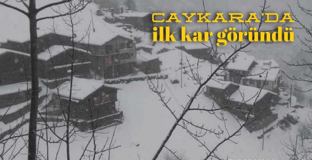 Çaykara'da yılın ilk kar yağışı!