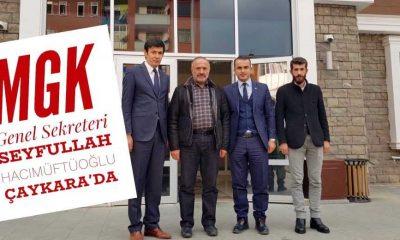 Seyfullah Hacımüftüoğlu Kaymakam Ayrancı'yı ziyaret etti