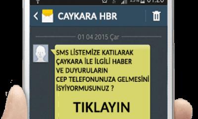 Çaykara Gazetesi'nden ücretsiz SMS sistemi hizmeti