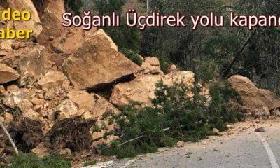 Çaykara Sultanmurat yolu heyelandan kapandı