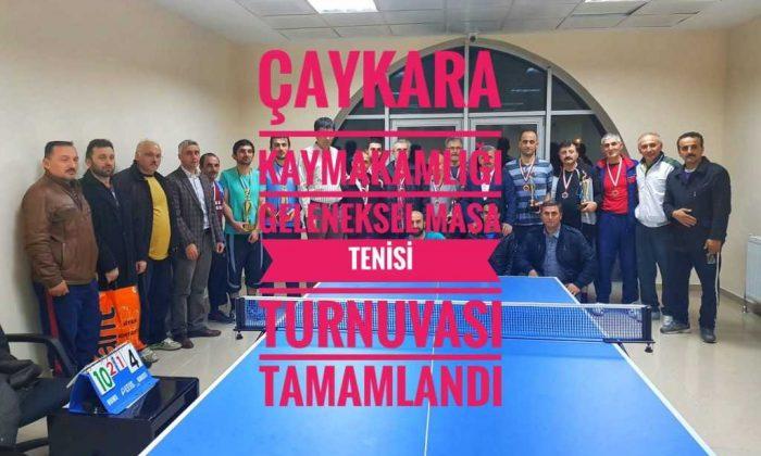 Çaykara Kaymakamlığı Masa Tenisi Turnuvası Tamamlandı
